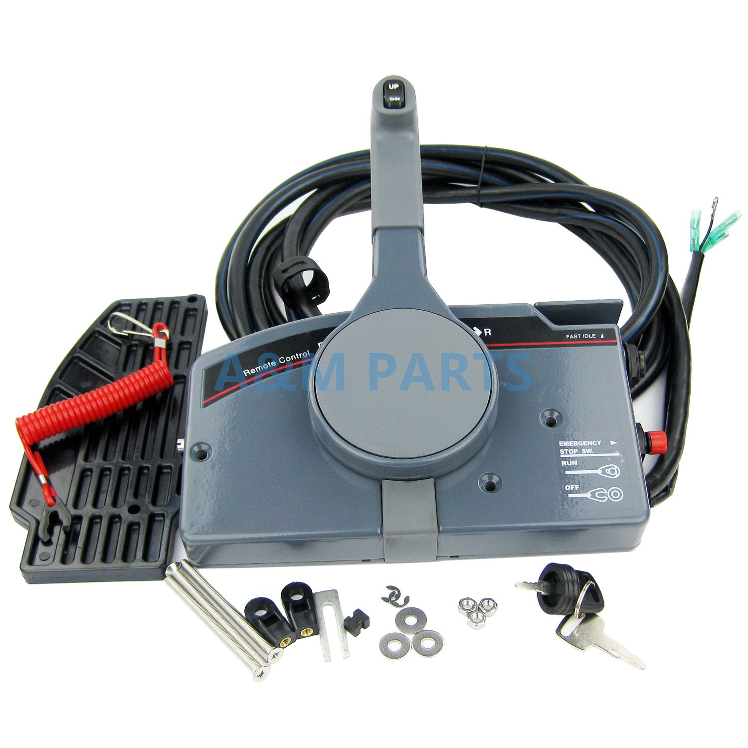 US $186 75 25% OFF|Outboard Remote Control Box for Yamaha Boat Engine Right  Side Mount With 10 Pin Cable PULL Throttle-in Marine Hardware from