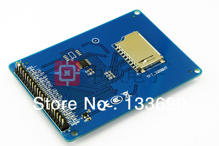 """Image 2 - 3.2"""" TFT LCD Module Display + Touch Screen Panel + PCB Board Blue SSD1289 with SD Card Slot 65K Colors3.2"""" tft lcd moduletft lcd modulelcd module -"""