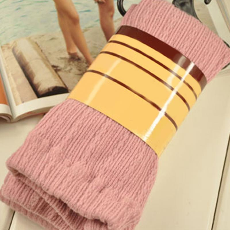 Women Autumn Winter Fashionable Casual Warm Comfortable Soft Solid Stripe Cotton Thickened Absorbent Hip Pantyhose Party Pants