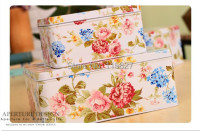 Free Shipping New Flower Design 3pcs Tin Case Jumbo Sweety Cake Box Cookie Box Metal Storage
