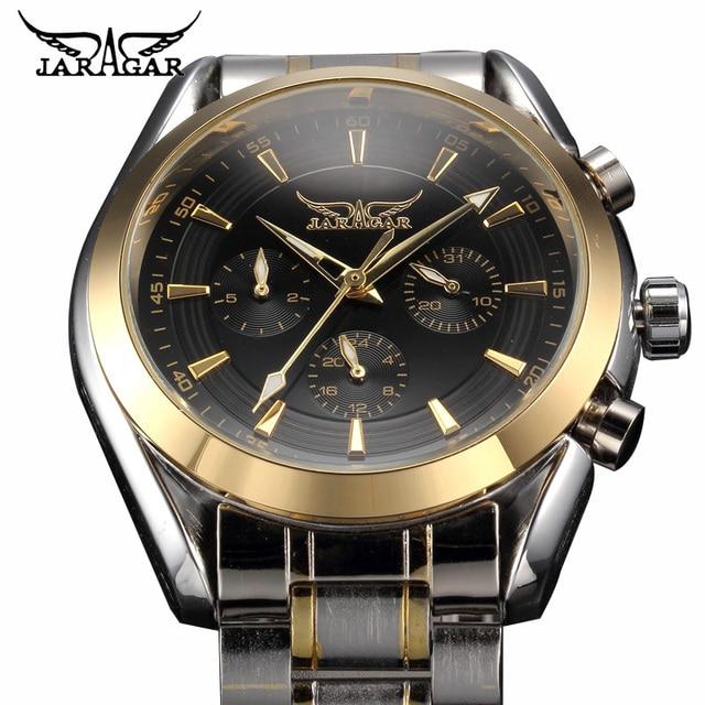 ساعات رجالي ساعة أوتوماتيكية من الفولاذ المقاوم للصدأ ساعة فاخرة من أفضل العلامات التجارية للرجال ساعة يد عملية Relojes Hombre التقويم ساعة التاريخ
