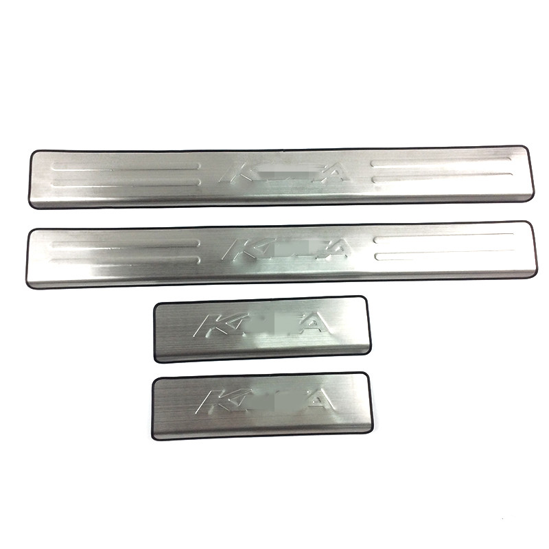 4pcs Door Sill Scuff Plate Threshold Pad Tread Plate Welcome Pedal Compatible Cars: Ford Kuga