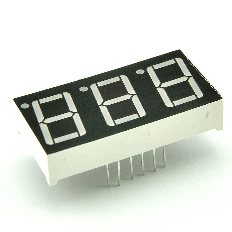 Glyduino 0.56 inch 3 Bit Common Cathode Digital Tube LED Display Module for Arduino