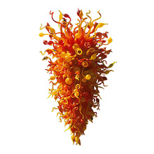 Large Orange Blown Murano Glass Chandelier 110V-240V Hotel Lobby Style Art Decor Lighting