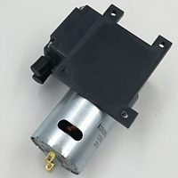 12L/M dc 12V electric mini brush diaphragm vacuum mini pump