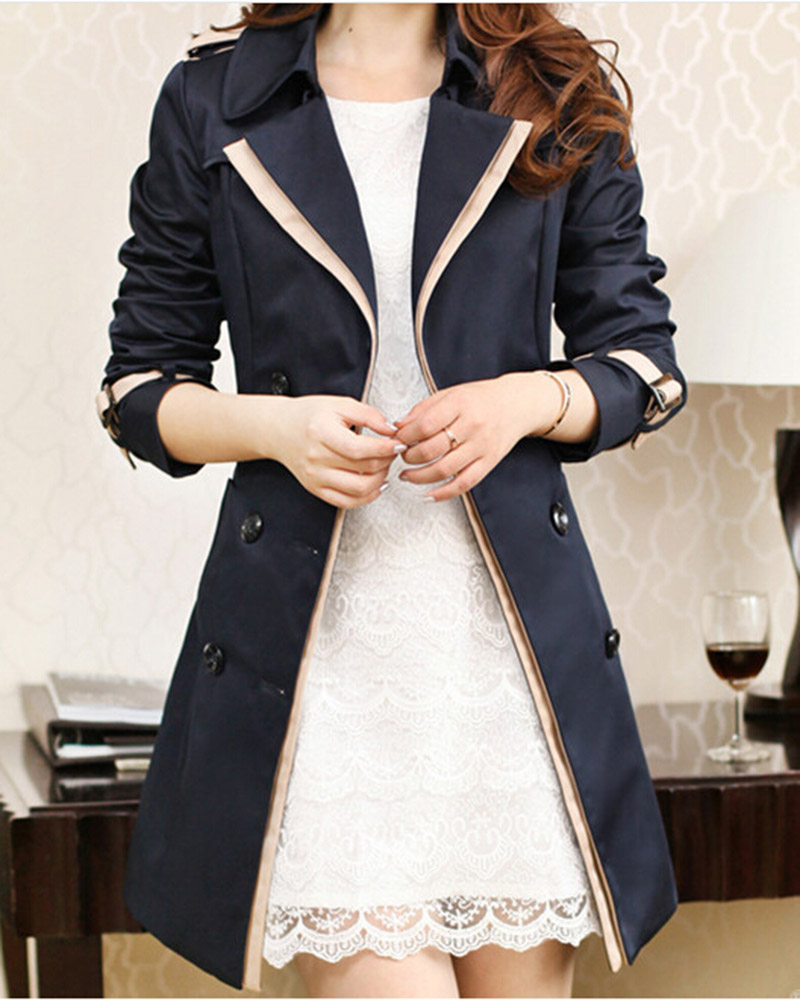 Brazilian Especially long   trench   coat for women Slim fit female Wind breaker sashes Outerwear Winter trenchcoat