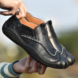 Мужские повседневные Лоферы черного и коричневого цвета, мужская обувь без застежки, классические мужские лоферы на весну-осень