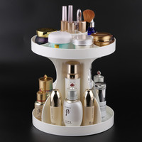 Transparent Cosmetic Storage Box 360 Degree Rotation Creative Desktop Acrylic Box Frame Finishing Dresser Skincare
