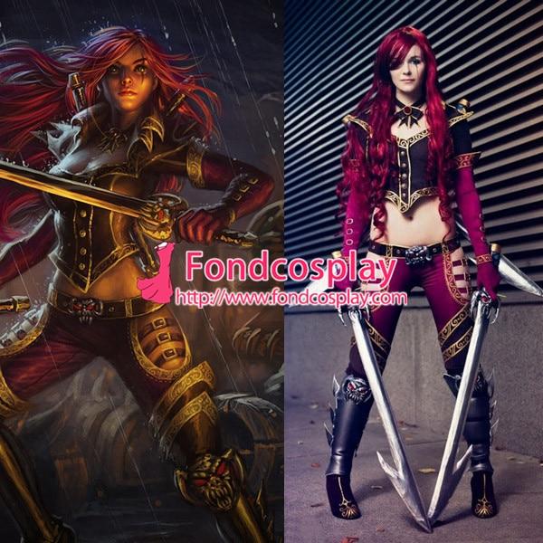 LOL jeu haute commande Katarina Du Couteau tenue Costume Cosplay sur mesure [G937]