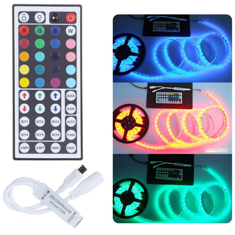 5050 RGB LED Strip Waterproof 5M 300LEDS LED Light Strips Flexible Neon Tape With Remote and 3A 36W Power for Party Home Decor sale multicolor glow neon wireless remote motorcycle rgb 5050 led smd flashing light 12 strips waterproof 15 color