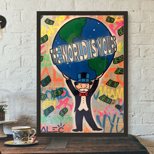 Monopolyings The World Is Yours Art Canvas Poster Painting Wall Picture Print Modern Home Bedroom Decoration Accessories Artwork