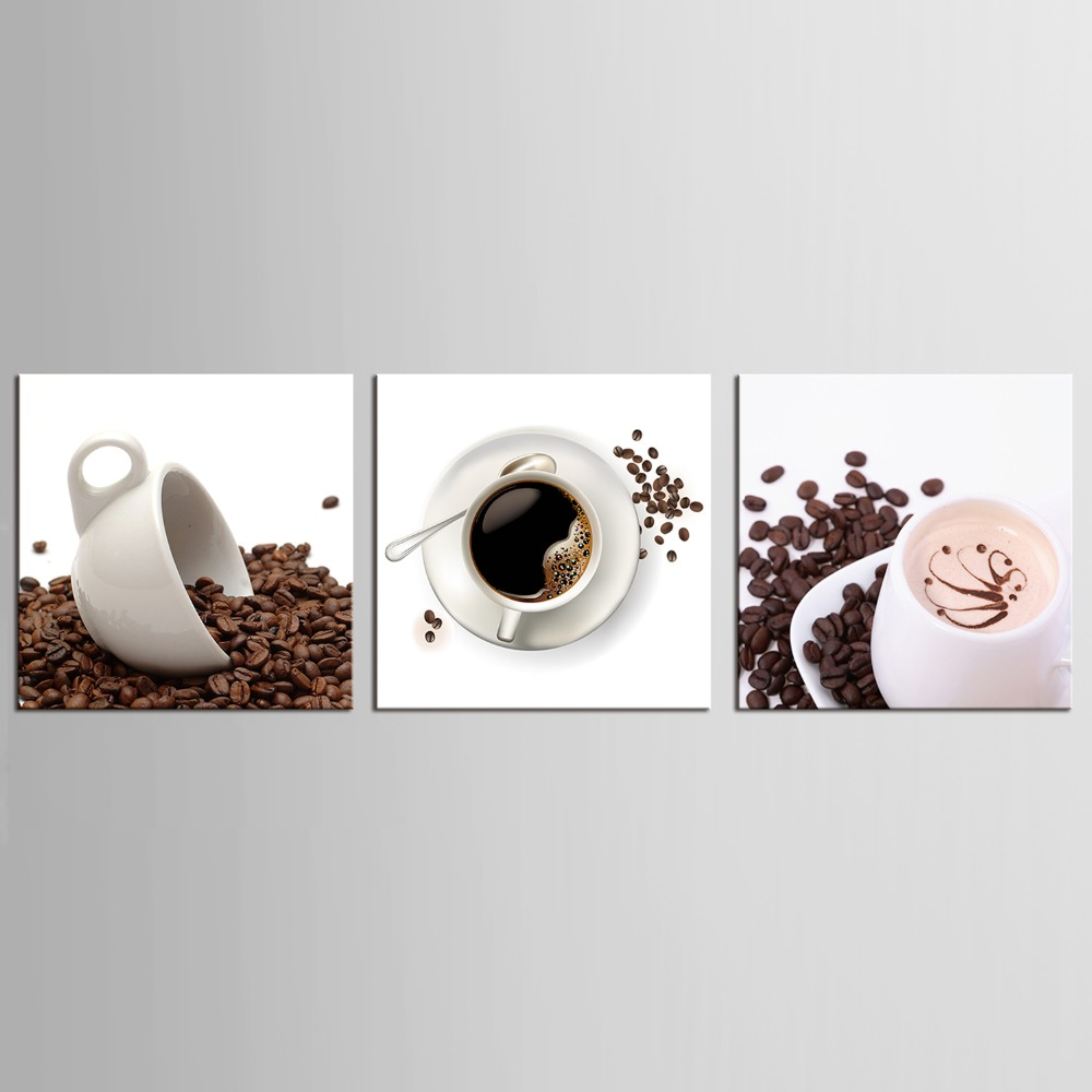 3 panel canvas art coffee kitchen modern abstract painting wall pictures for living room decoration pictures