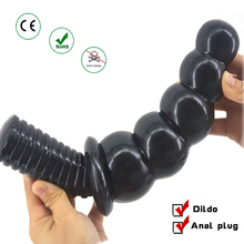 huge black dildo big anal beads plug large sex toys for adults women masturbator men erotic products shop