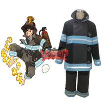 Anime Fire Force Shinra Kusakabe cosplay costume team clothes Outfit Halloween custom made