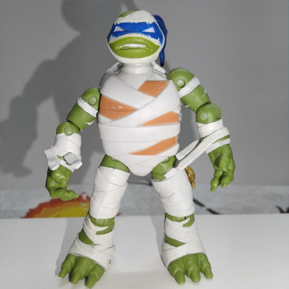 Turtle Figures Soldier Metal Head America Cartoon Actions Toys For Children Raphael Mikey Leo Donnie Mutant Animal