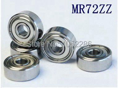 100pcs lot high quality MR72ZZ miniature ball bearing MR72 MR72 2Z shielded deep groove ball bearings