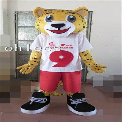 Costume de mascotte léopard Ohlees Halloween accessoires de fête de noël Costumes pour animal de bande dessinée adulte personnaliser