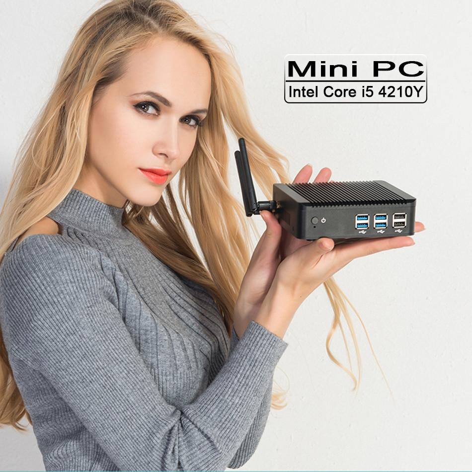 Mini PC Windows10 Core i5 4210Y 4G RAM 128G SSD WIFI HDMI VGA HTPC Laptops Micro