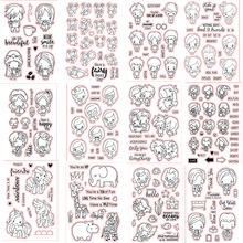Little Boys And Girls Mermaid Unicorn Animals Transparent Clear Stamps for DIY Scrapbooking Decorative Crafts Paper Cards Making