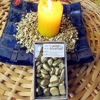 Potted Ornamental Gardening Supplies Color Stones Fairy Garden Decorative Golden Pebble Decoration Accessories 200 G