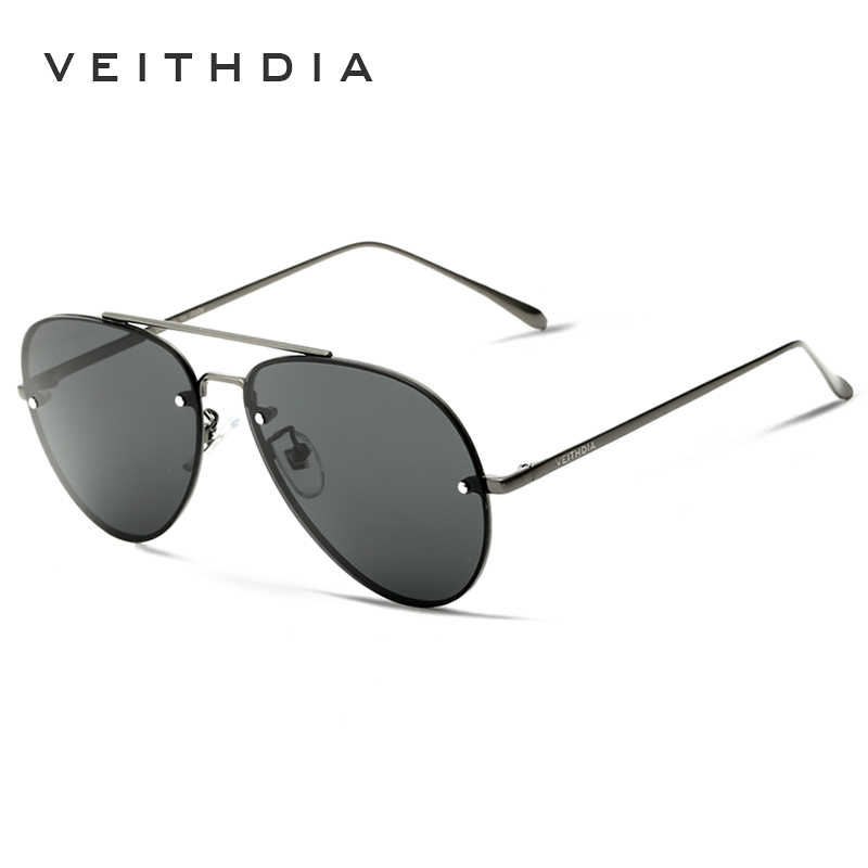 VEITHDIA ยี่ห้อ Rimless แฟชั่นผู้ชายแว่นตากันแดดแว่นตาโพลาไรซ์เคลือบกระจกแว่นตากันแดดแว่นตา gafas oculos de sol 3811
