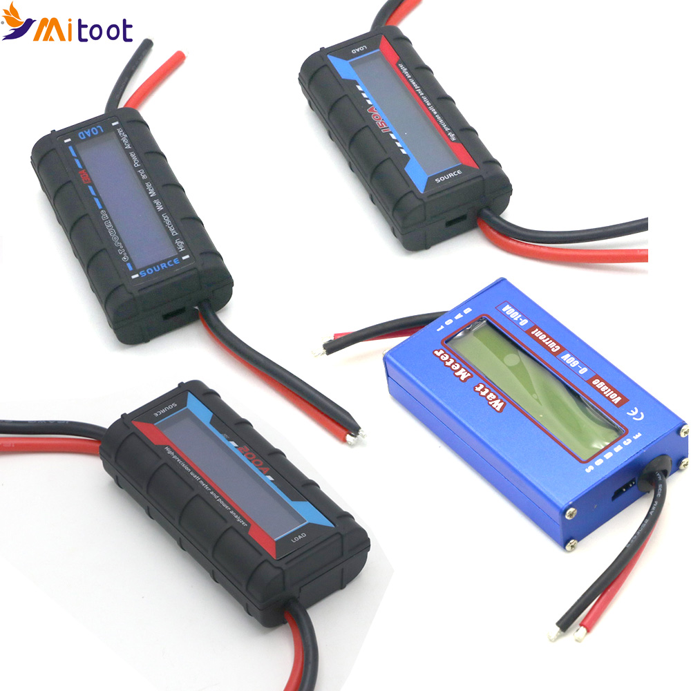 RC 100A 130A 150A 200A High Precision Watt Meter And Power Analyzer W/ Backlight LCD For Rc Drone