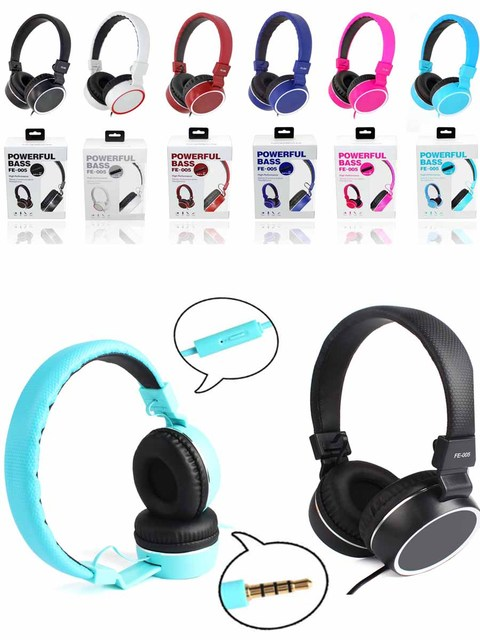 3.5mm Plug Universal Earphone with Mic for iPhone iPad PC Tablets