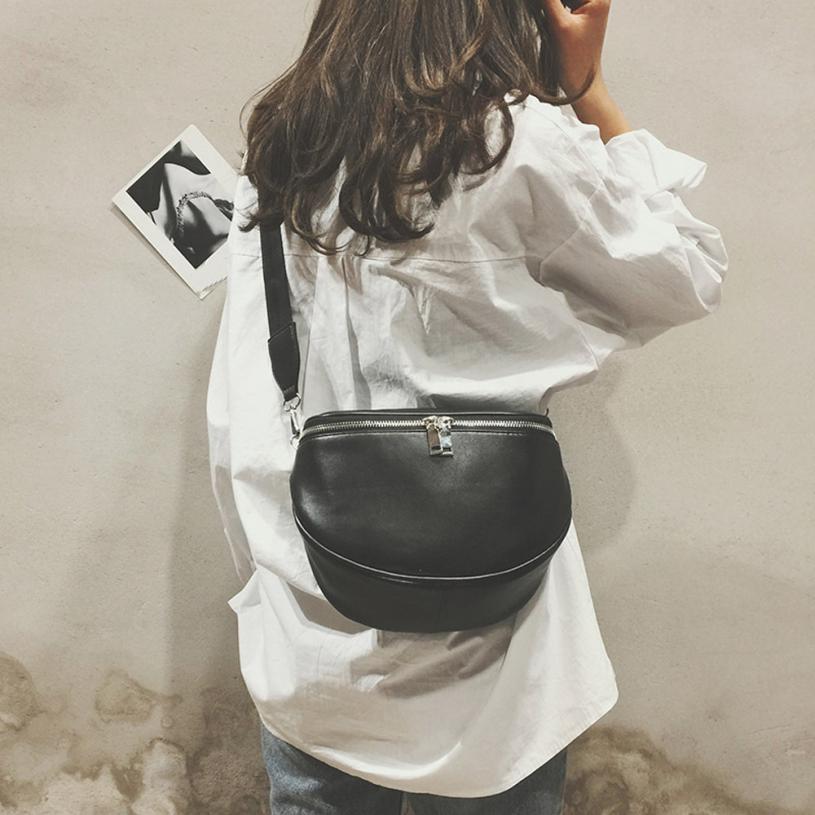 New Arrival Fashion Pure Color Women Leather Shell Messenger Shoulder Bag Bust Bag Crossbody Bag Money Phone Travel Hottest#25