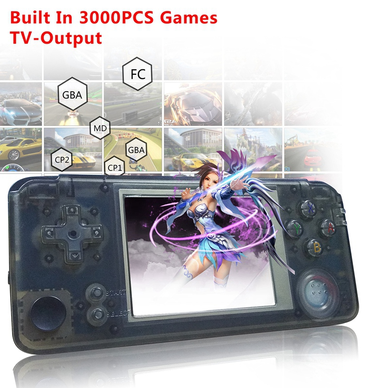 Powkiddy Retro Handheld Game Console 16GB 3inch Portable Mini Video Gaming Players Built In 3000 Games With 360 Degree Control