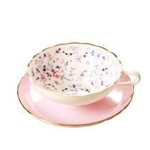 Европейский костяной фарфор набор кофейных чашек фруктовый узор высококачественная керамическая чашка для любителей латте 101-200 мл кофе A