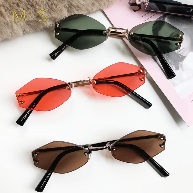 MS Fashion Sunglasses 2018 Women Luxury Brand Designer Vintage Sun glasses Female Cat eye Glasses For Women Girl EyewearJ75