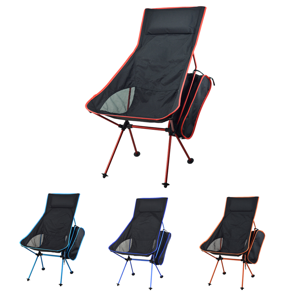 2019 Portable Folding Camping Stol Fiske Stol 600D Oxford Cloth Lätt Stol för Outdoor Picnic BBQ Beach med väska