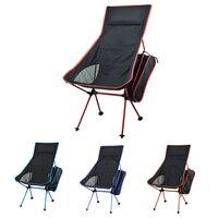 Silla de Camping plegable portátil  silla de pesca 600D  tela Oxford  asiento ligero para pícnic al aire libre  barbacoa  playa con bolsa