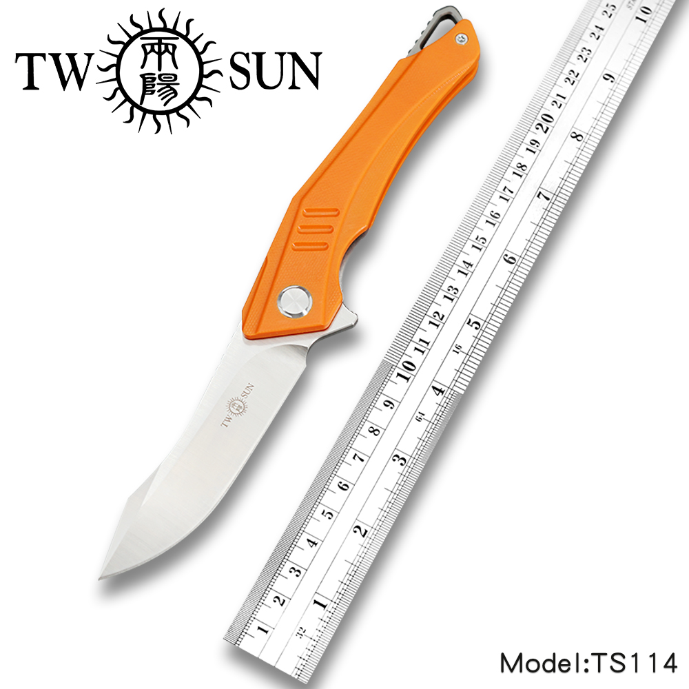 TwoSun Knives G10 D2 Fast Open Folding Pocket Knife tactical knife Survival knives camping outdoor Pathfinder Aranea TS114-G10TwoSun Knives G10 D2 Fast Open Folding Pocket Knife tactical knife Survival knives camping outdoor Pathfinder Aranea TS114-G10