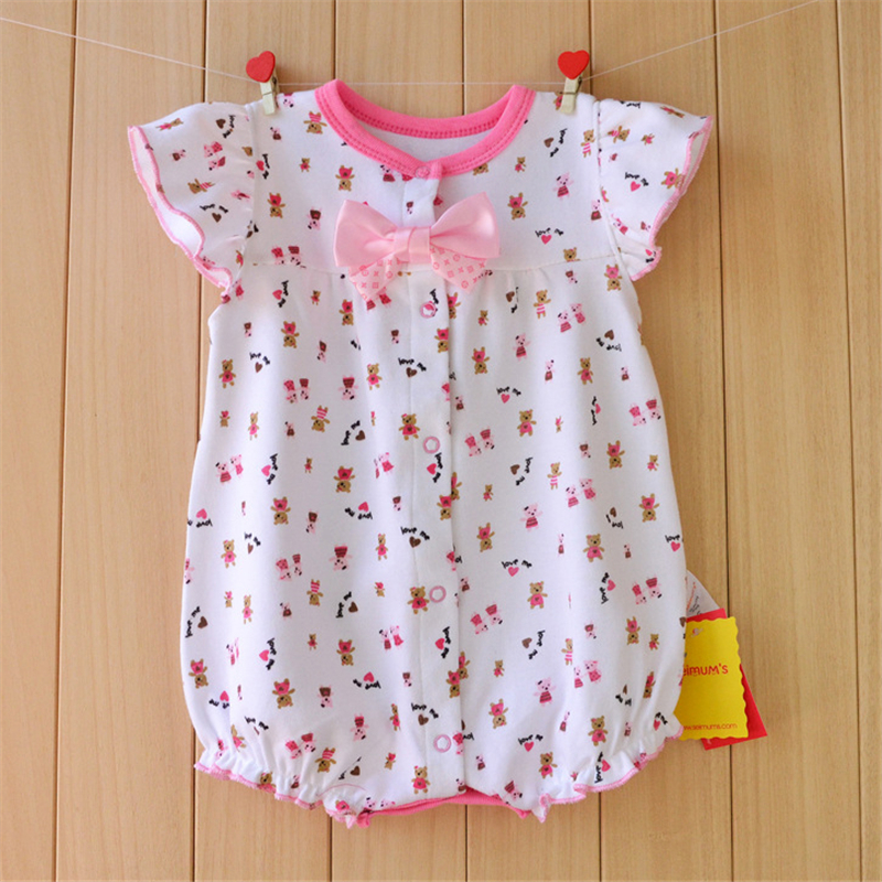 Baby Rompers Summer Baby Girl Clothes 2017 Baby Girl Clothing Newborn Baby Clothes Roupas Bebe Infant Jumpsuit Kids Clothes summer cotton baby rompers boys infant toddler jumpsuit princess pink bow lace baby girl clothing newborn bebe overall clothes