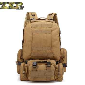 55l Men Military Backpack Molle Tactical Camouflage Outdoor Bags Sport Climbing Hiking Camping Sport Bag 11 Colors - DISCOUNT ITEM  50% OFF Sports & Entertainment