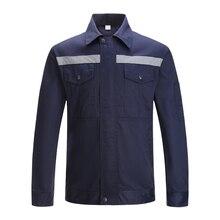 Langarm Arbeit Uniformen Top Arbeit Jacke Navy Blau Arbeit tragen Mechaniker