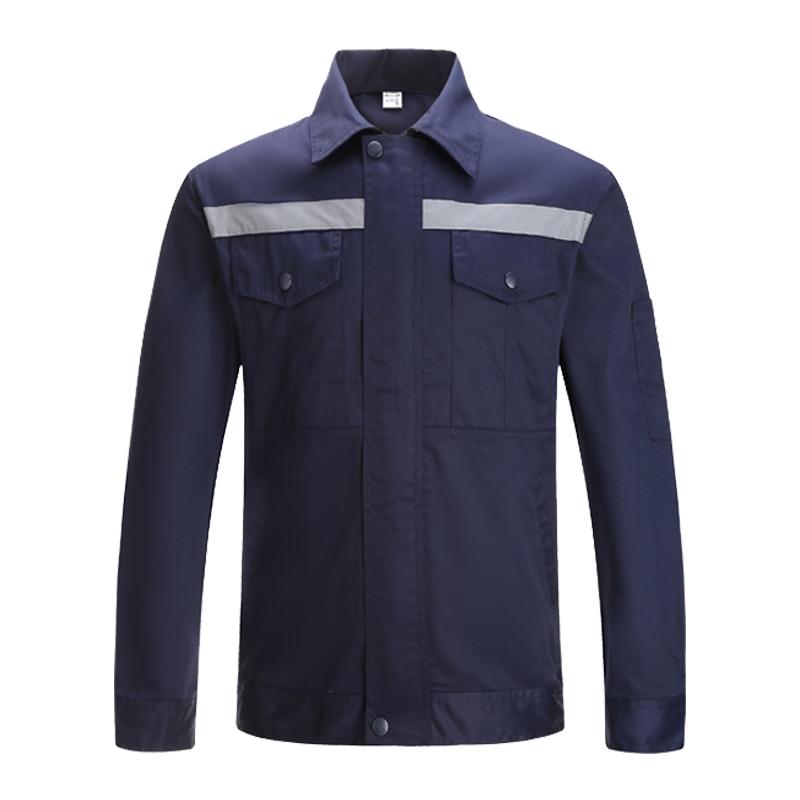 Long Sleeve Work Uniforms Top Work Jacket Navy Blue Work wear Mechanic