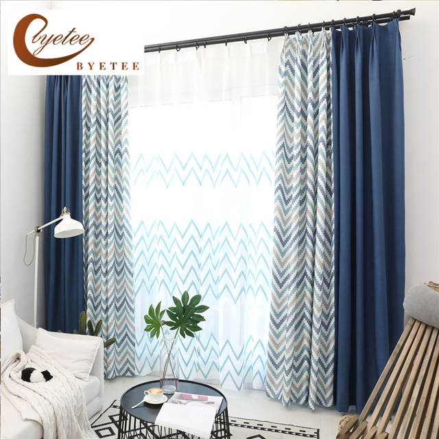 Placeholder Byetee Cotton Linen Kitchen Curtains Doors For Living Room Modern Nordic Bedroom Blackout