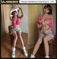 Top quality 163cm poupee silicone big boobs sex doll,real life fat ass sex doll,tan skin cyberskin sex doll with skeleton,ST-206
