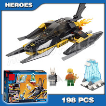 198pcs Super Heroes Batman Moive Ártico sy301 Bat Man vs Mr Freeze Aquaman blocos Tijolos deadpool Compatíveis com lego(China)