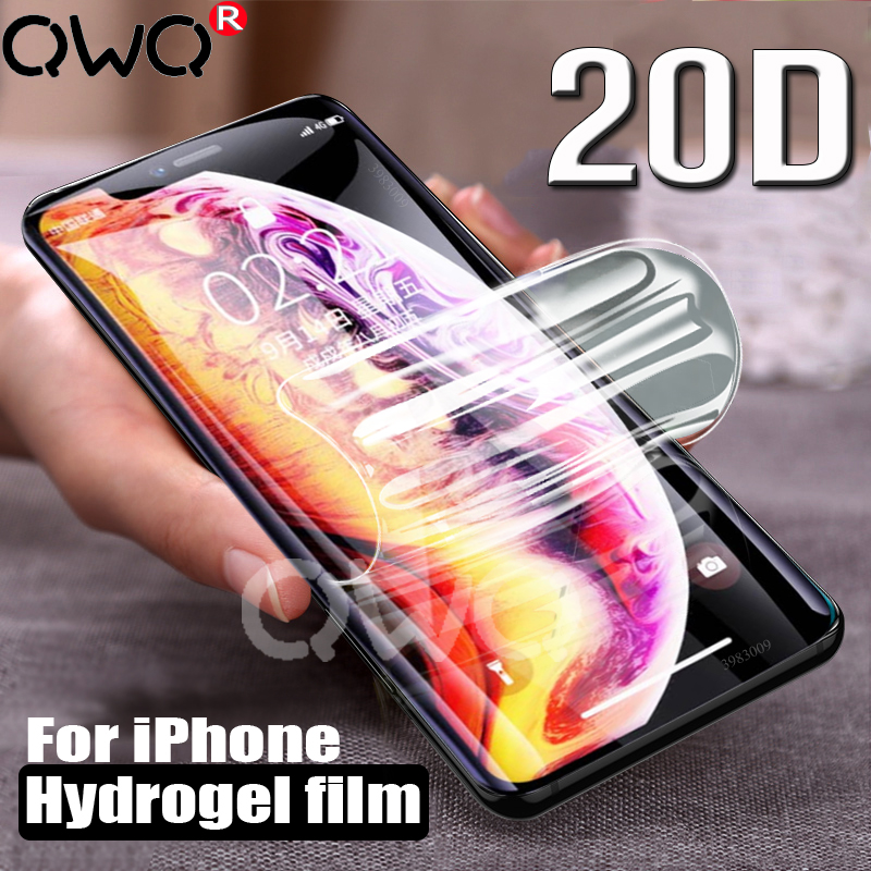 Screen-Protector Light-Hydrogel Anti-Fall-Film Full-Cover IPhone Xr 8-Plus 6S 20D