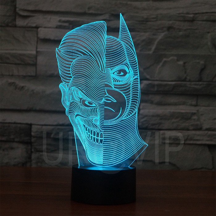 JC-2835  Amazing 3D Illusion led Table  Lamp Night Light with double face shape   (5)
