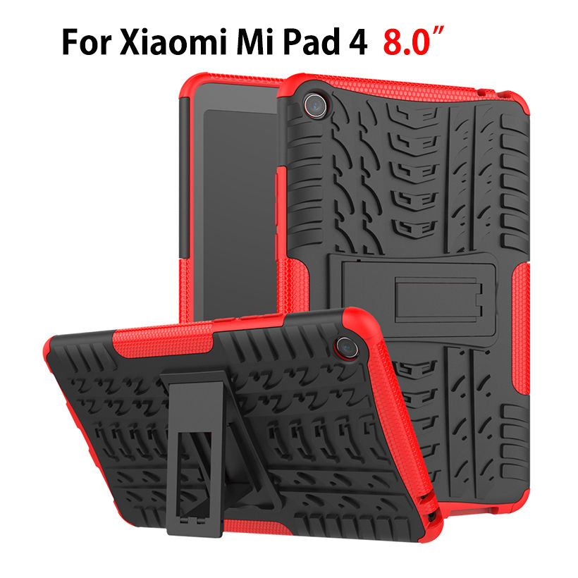 Case For Xiaomi Mi Pad MiPad 4 Mipad4 8.0 inch Cover Heavy Duty 2 in 1 Hybrid Rugged Durable Funda Tablet Stand Shell Capa цена