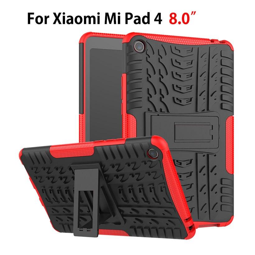 Para Xiaomi Mi Pad MiPad 4 Mipad4 8,0 pulgadas cubierta de servicio pesado 2 en 1 híbrido resistente Durable Funda Tablet de Capa