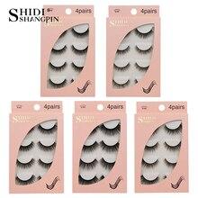 3D mink lashes 100% Cruelty free Lashes false eyelashes natural handmade 4 pairs Beauty Essentials false eyelash makeup cilios