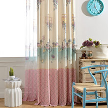 Riding Cartoon Sweet Pink Curtains For Children Girl Tulle Sheer Volie Curtain Quality Window Cortinas Kids Room Curtains(China)
