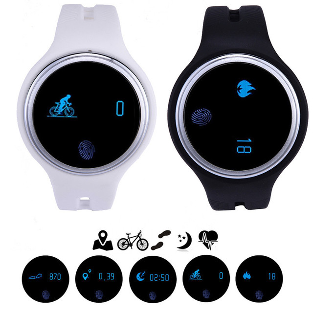 E07 smartwatch bluetooth para ios android telefone inteligente à prova d' água wearable dispositivos passometer rastreador de fitness pulseira smart watch