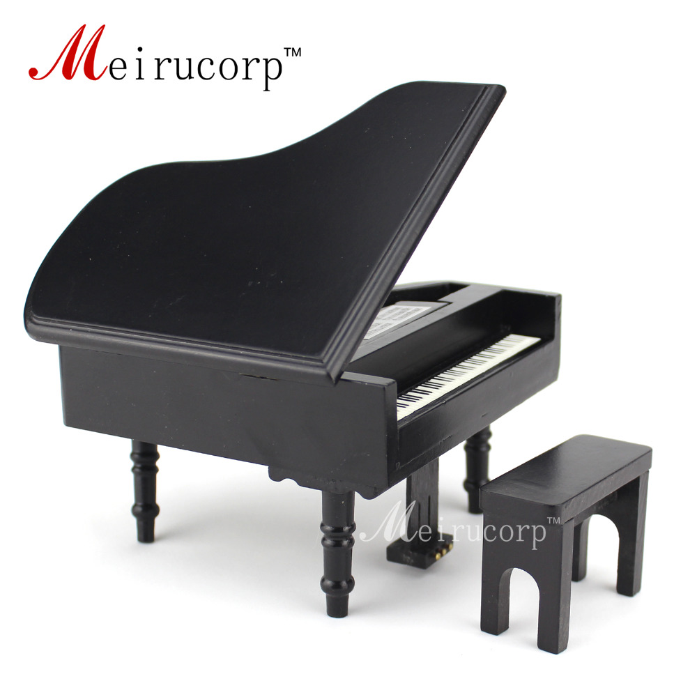 casa de muñecas 1/12 Scale Miniatures Musical Instrument Piano y - Juguetes clásicos - foto 2