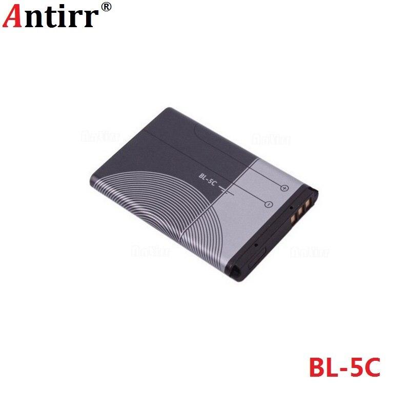 1pc BL-5C Mobile Phone Replacement Battery Antirr Original 1020mAh BL5C BL 5C For Nokia Li-ion 3.7V Rechargeable Batteries
